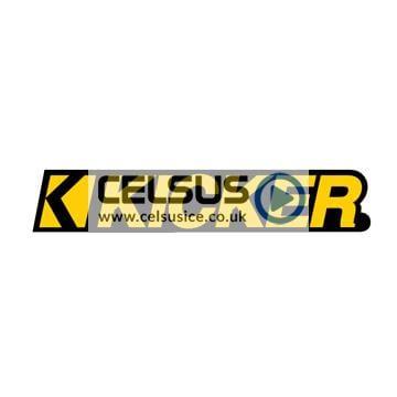 Kicker Logo Decal – Yellow & Black – 3″
