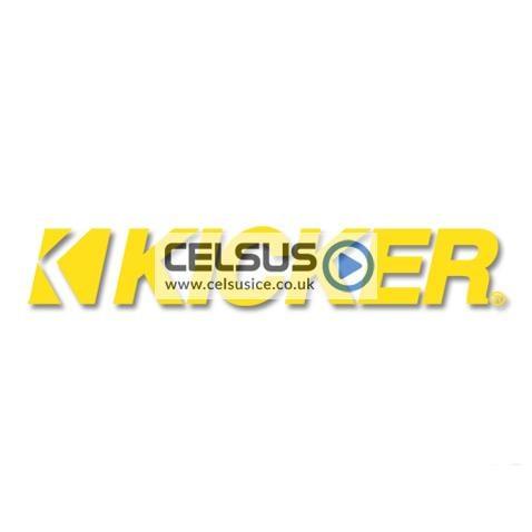 Kicker Logo Decal – Yellow – 11″