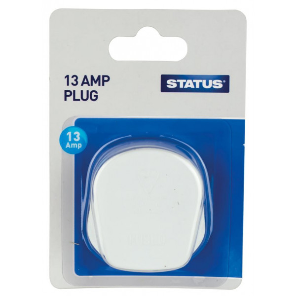 Mains Plugs – White – Pack of 12