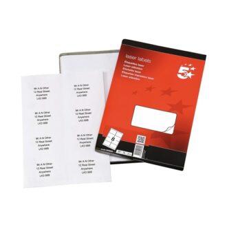 Laser Address Labels – 99 x 68mm – Pack of 800