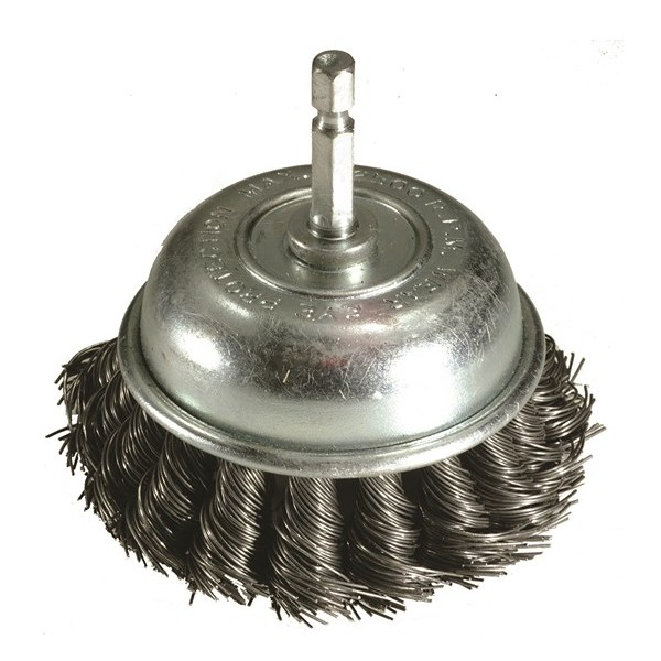 Twist Knot Brush – Cup Type With Quick Chuck End – 75mm