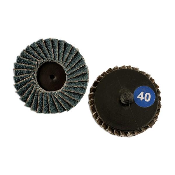 Quick Lock Flap Discs – P40 – 50mm – Pack Of 5