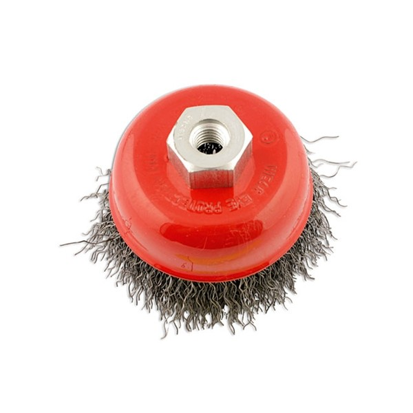 Crimped Brush – Cup Type – 75mm x M10