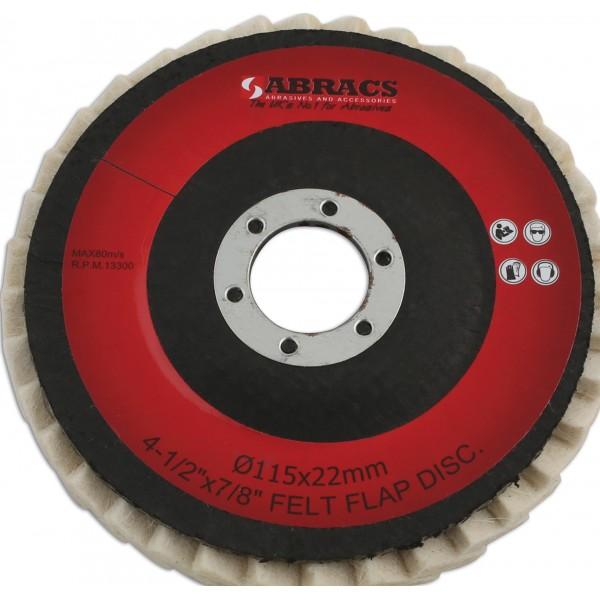 Felt Polishing Disc – 115mm x 22mm – Pack of 5