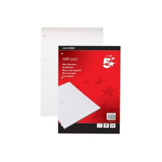 A4 Ruled Headbound Refill Pad – 80 Sheets – Pack of 10