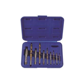 Combination Screw Extractor & Drill Set – 10 Piece