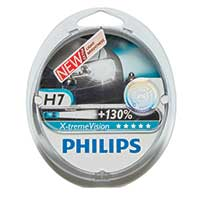 Philips Xtreme Vision PLUS 130% Extra Light – H7 Twin Pack