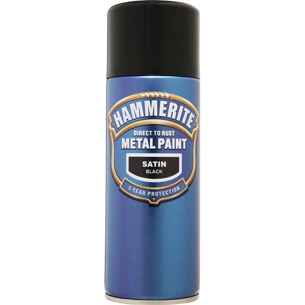Direct To Rust Metal Paint – Satin Black – 400ml