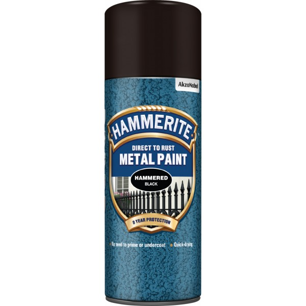 Direct To Rust Metal Paint – Hammered Black – 400ml