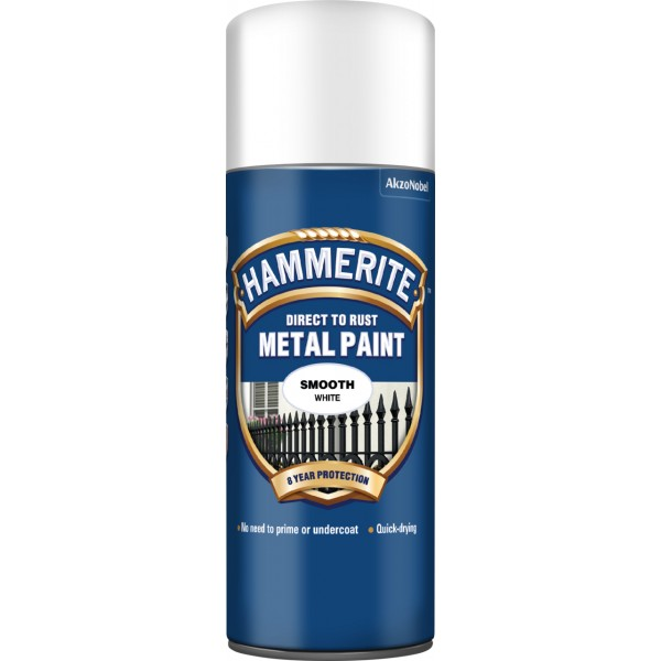 Direct To Rust Metal Paint – Smooth White – 400ml