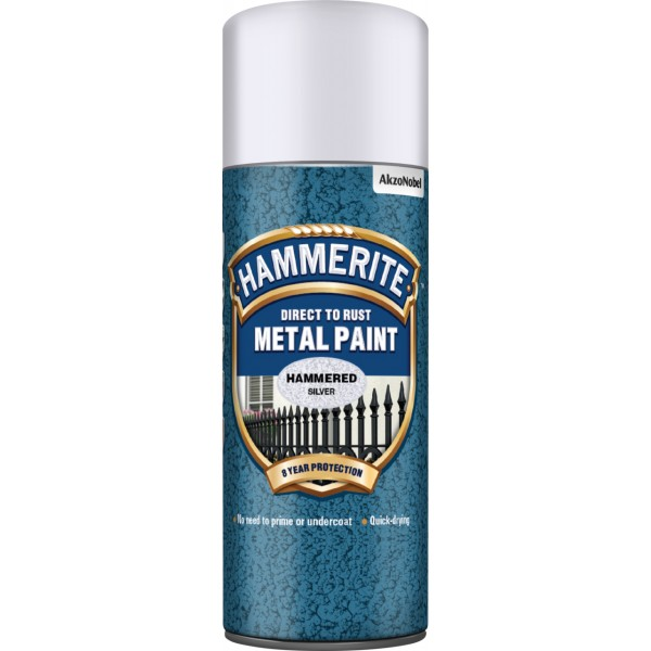 Direct To Rust Metal Paint – Hammered Silver – 400ml