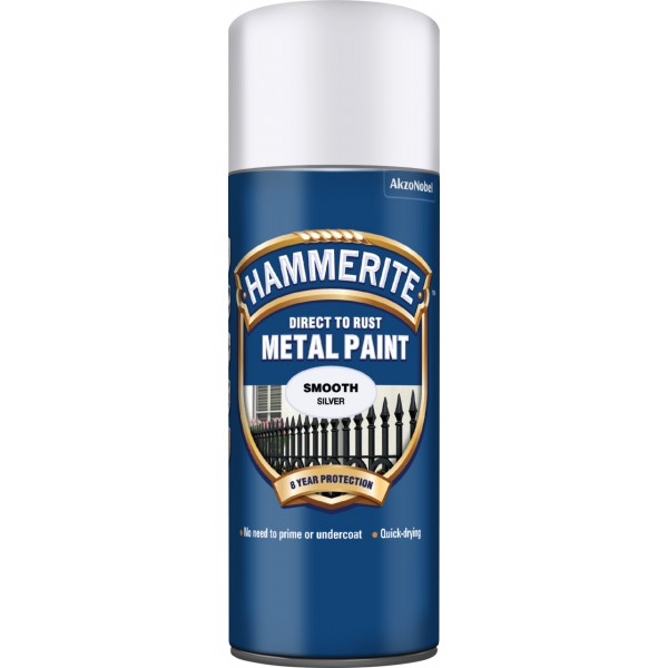 Direct To Rust Metal Paint – Smooth Silver – 400ml