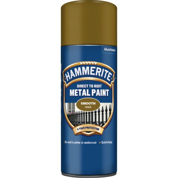 Direct To Rust Metal Paint – Smooth Gold – 400ml