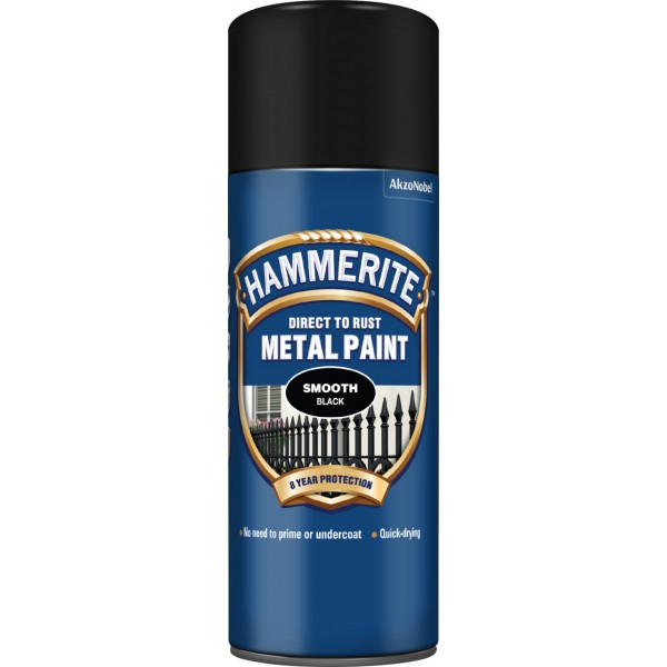Direct To Rust Metal Paint – Smooth Black – 400ml