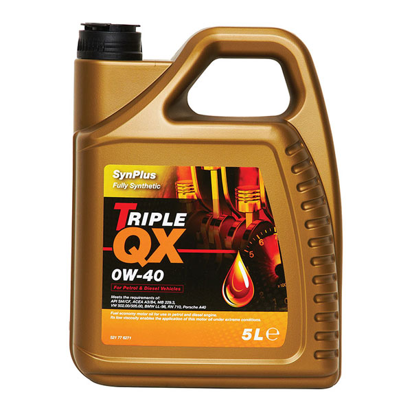 TRIPLE QX Synplus Fully Synthetic Engine Oil – 0W-40 – 5ltr