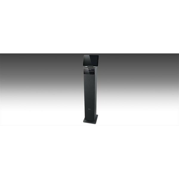 Muse Bluetooth Tower Speaker With PLL Radio, CD & USB Port 100cm Black + LED Display