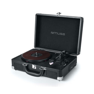 Muse Turntable Stereo System 3 Speeds 33/45/78 Rpm Black