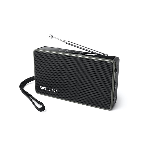 Muse Portable Radio 2-Band FM/MW Black