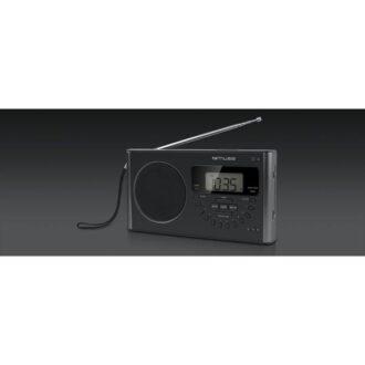 Muse PLL Portable Radio 4-Band FM/MW/LW/SW Black With LED Display