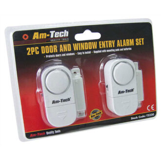 Am-Tech 2pc Door & Window Entry Alarm Set