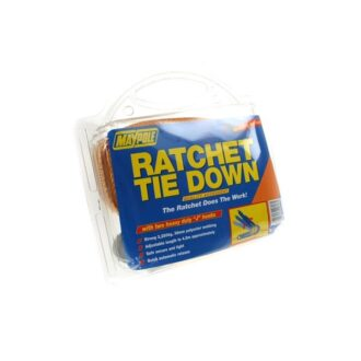 Ratchet Tie Down Strap & Hooks – 4.5m x 38mm