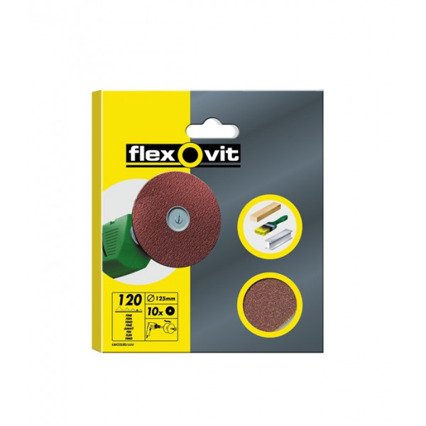 High Performance Aluminium Oxide Discs – Drill Mountable – P120 – 125mm – Pack Of 10