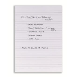 A4 Headbound Ruled Memo Pad – 80 Sheets – Pack of 10