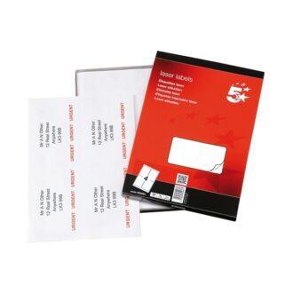 Laser Address Labels – 139 x 99mm – Pack of 400