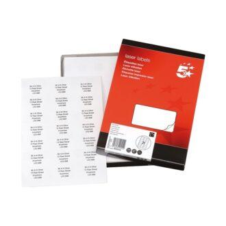 Laser Address Labels – 64 x 38mm – Pack of 5250