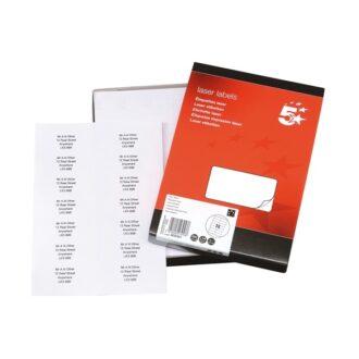 Laser Address Labels – 99 x 38mm – Pack of 3500