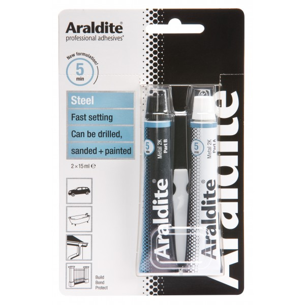 Araldite Steel – 2 x 15ml Tubes