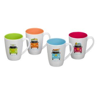 Camper Smiles Mug Set – Pack of 4