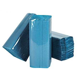 1 Ply Blue C-Fold Paper Hand Towels – 12 Packs of 240 Sheets