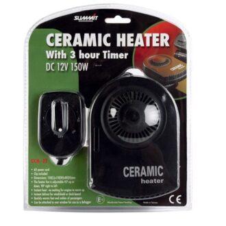 Ceramic Car Heater & Timer – 12V – 150W