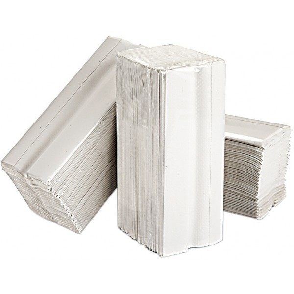 2 Ply White C-Fold Paper Hand Towels – 15 Packs of 160 Sheets
