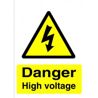 Rigid Sign – Electric Vehicle Warning – 297mm x 210mm x 179mm