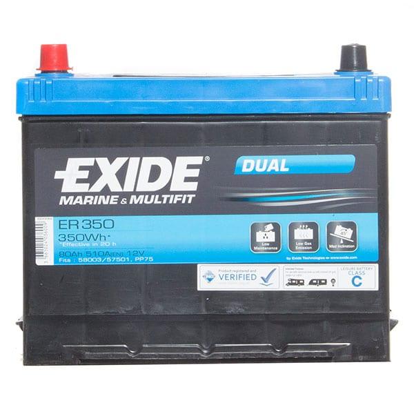 Exide ER350 Leisure & Marine Battery – 80Ah