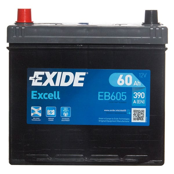 Exide Excell Battery 014 3 Year Guarantee