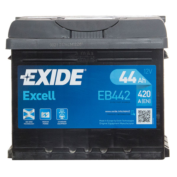 Exide Excell Battery 063 3 Year Guarantee
