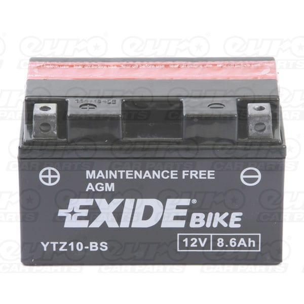 Exide YTZ10-BS Motorcycle Battery