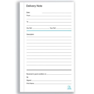 Duplicate Delivery Note Books – 100 Sets – Pack of 5