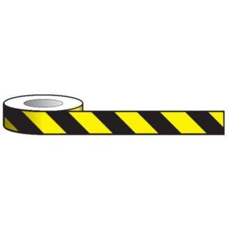 Aisle Marking Tape – Black/Yellow – 33m x 50mm