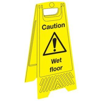 Janitorial Floor Sign – Caution Wet Floor