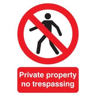 Private Property Sign – Rigid Polypropylene – 210mm x 148mm