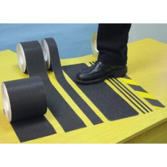 Anti-Slip Tape – Black & Yellow – 18m x 50mm