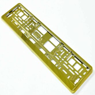 GOLD CHROME NUMBER PLATE HOLDER