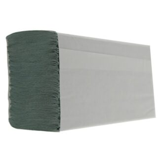 1 Ply Green M-Fold Paper Hand Towels – Pack of 3000