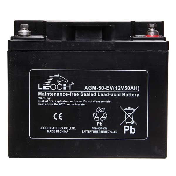 Leoch AGM Sealed Deep Cycle Battery 12V 50AH