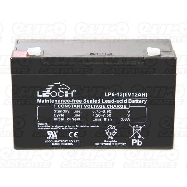 Leoch VRLA Sealed Battery – 6V 12Ah