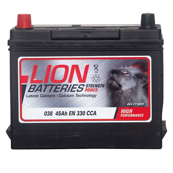 Lion 038 Battery – 3 Year Guarantee